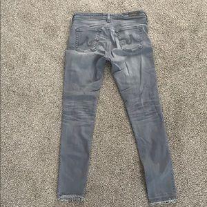 Ag jeans women's grey legging super skinny ankle